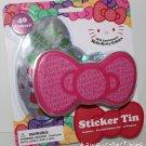 Sanrio Hello Kitty 35th Anniversary PINK Sticker Tin + 40 Stickers 2009