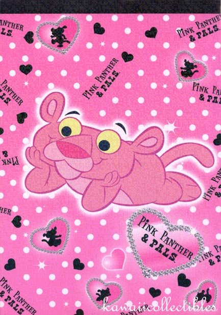 Kawaii Pink Panther & Pals Memo Note Pad 2007 NIP