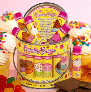 13-Pc. Cupcake Birthday Lip Gloss Balm Bucket Lot Set