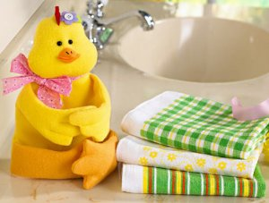 4-Pc. Springtime Spring Easter Gift Towel Set - Chick