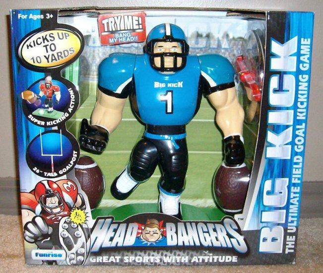 Big kick head bangers field goal football game blue