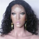 "16"" #1B---Body Wave 100% Indian Remy Full Lace Wig"