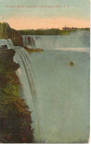 Prospect Point Niagara Falls, NY Postcard postmark Niagara Univ 1913  #0213