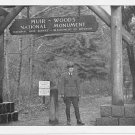 Muir Woods National Monument  CA Black and White Print Postcard c. 1950 Walter Finn #0005