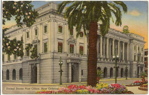 United States Post Office  New Orleans, LA Postcard 1941  #0024