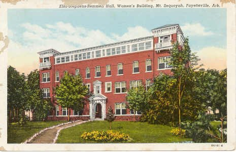Women's Building, Mt. Sequoyah, Western Methodist Assembly Fayetteville, AR Postcard 1938 #0009