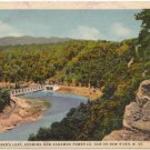 Lover's Leap Kanawha Power Dam, New River, West Virginia  Postcard WV  1933  #0206