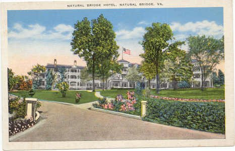 Natural Bridge Hotel, Natural Bridge, VA Vintage Postcard circa 1920s  #0079