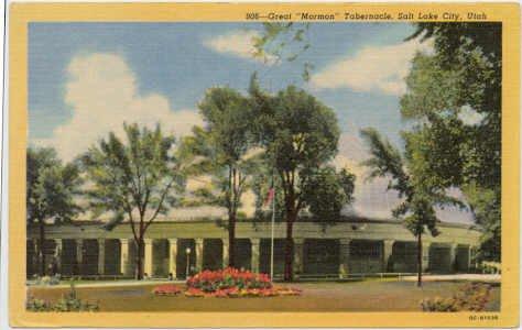 The Tabernacle, Salt Lake City, UT Postcard  1950  Mormon   #0071