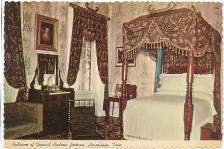 Bedroom Andrew Jackson Home, Hermitage, TN Postcard  1976   #0115
