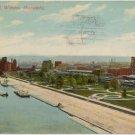 Levee Park, Winona, MN Postcard postmarked 1911  #0210