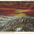 Summit of Pikes Peak at Sunrise   CO Postcard  Circa 1930s  #0236