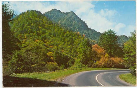 The Chimneys, Great Smoky Mountains National Park  TN - NC Transmountain Hwy. Postcard  #0080