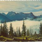 Scenic View of the Towering Peaks of the Colorado Rockies above the clouds Chrome Postcard #0287