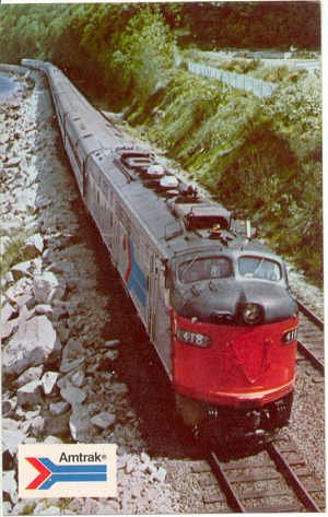 Coast Starlight - Amtrak, Seattle - Los Angeles  Chrome Postcard  Train #0182