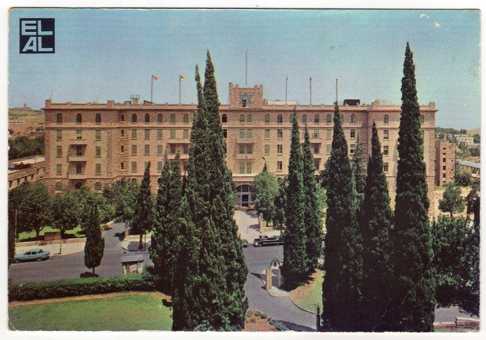 King David, Jerusalem One of the Classic Hotels of the World EL AL Postcard    #0311