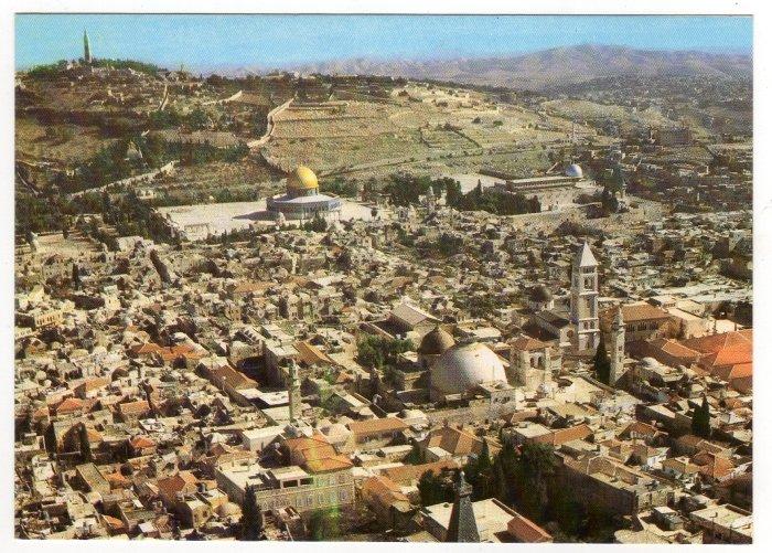 Jerusalem, Bird's Eye View  Postcard Israel  #0320
