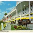 Grand Hotel and Carriages  Mackinac Island, Michigan Postcard  #0330
