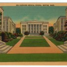 Harvard Medical School Boston, MA Colored Linen Postcard circa 1930s  #0351