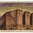 HOTEL STATLER, BOSTON, Park Square at Arlington Street,  MA Linen Postcard  #0343