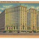 Hotel Statler and Statler Building Boston, MA Linen cars circa 1930s Tichnor  #0348