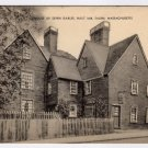 House of Seven Gables  Salem, MA Black and White Printed Postcard  #0350