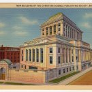 New Building Christian Science Publishing Society Boston, MA Postcard 1933  #0347