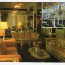 Interior view and entrance view insert of Green Park Inn, Blowing Rock, NC Postcard  #0376