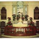 Old Wye Church View of Altar  Wye Mills, MD Plastichrome postcard #0384