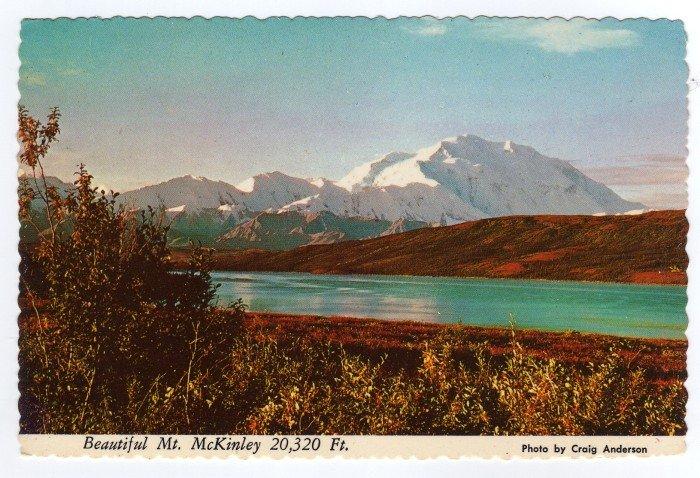 "Mt. McKinley and Wonder Lake in Autumn Alaska Craig Anderson photo ""alaska joe"" ORIGINAL #0412"
