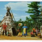 Indian Village, Lake George, N.Y. Vintage Postcard photo Richard K. Dean 1950s  #0436
