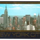 New York City skyline Postcard Empire State Building PanAm Building #0437