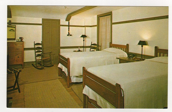 Bedroom Trustees' Office Shakertown Pleasant Hill, KY Postcard Walter H. Miller Photo  #0457