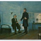 Jefferson Davis and Dr. Craven postcard of painting by Jack Clifton Fort Monroe Casemate Museum VA
