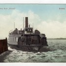 Bristol Ferry Boat leaving the dock Bristol, RI Polychrome Postcard early 1900s   #0490