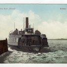 Bristol Ferry Boat leaving the dock Bristol, RI Polychrome Postcard early 1900s   #0490