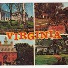 Virginia Multi-view postcard State Capitol - Univ of VA - Governor's Palace - Ash Lawn  #0478