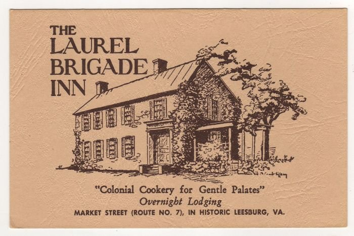 The Laurel Brigade Inn Leesburg VA postcard Advertising  #0479