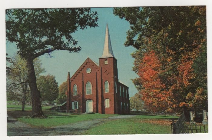 Mossy Creek Presbyterian Church, Mt. Solon, VA postcard Dexter photo by John Gitchell