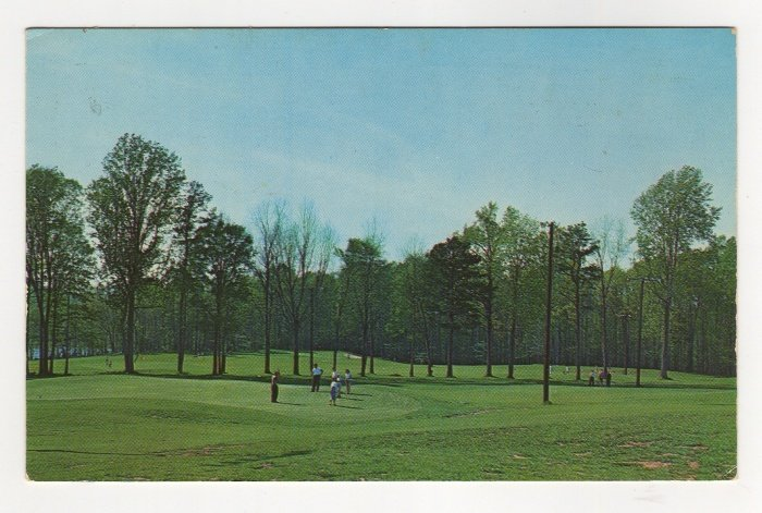Tanglewood Par-3 Golf Course Clemmons NC chrome postcard   #0533