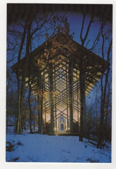 Thorncrown Chapel Eureka Springs AR Postcard   #0531
