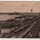 Montreal Harbour divided back early postcard paddle wheel ship horses buggys Valentine & Sons #0541