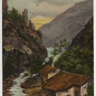 Vintage Landscape Th E L Theochrome - Serie No 1189 Postcard Germany Postmarked 1910 #0542