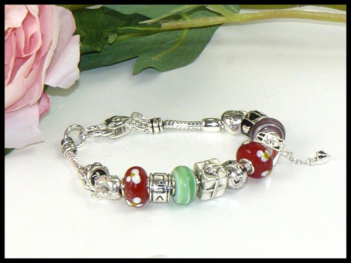 Pandora Inspired One Piece Love Bead Bracelet 664