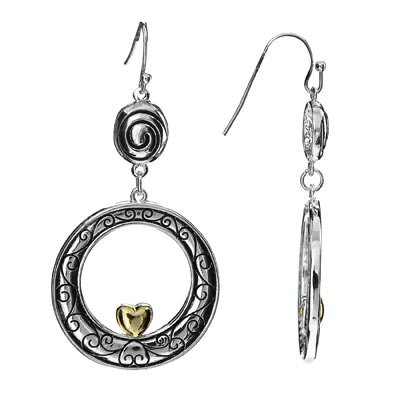 Brighton Inspired Heart in Circle Earrings 801
