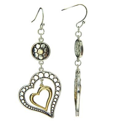 Brighton Inspired Heart in Heart Earrings 870