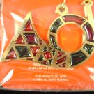 Vintage 1984 Avon Jewel Tone Christmas Horn Ornament