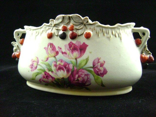 Royal Floretta Ware Austria Console Ceramic Pottery Vase
