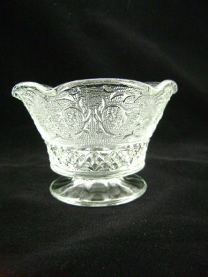 Vintage Duncan Early American Sandwich Low Crimped Compote