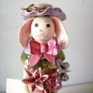 Piney Woods Pottery Lady Easter Bunny Figurine